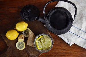 Lemon and ginger tea set