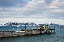 Fisherman boat port Norway