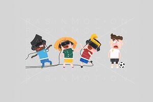 3d illustration. VR Children.