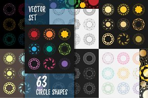63 Mandala Circle shapes.