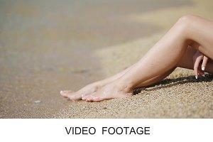Women's beautiful smooth legs