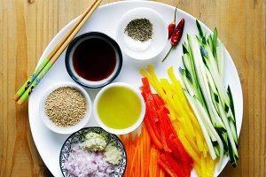 ingredients for asian dish