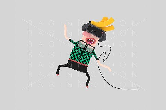 3d illustration. Man VR. - Illustrations