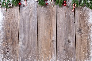 Christmas with Rustic Wood