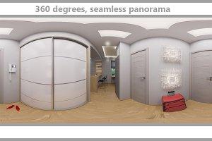 360 seamless panorama hallway