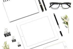 Office desk digital phone tablet PC