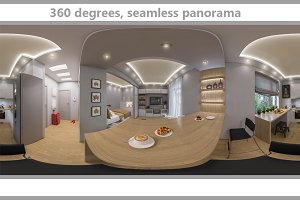 360 seamless panorama of  livingroom