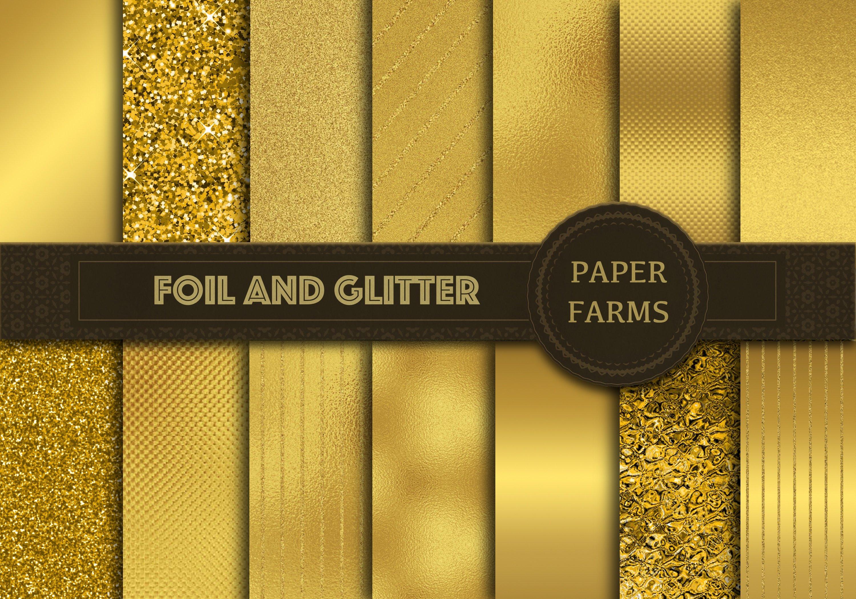 gold foil and glitter digital paper textures creative market