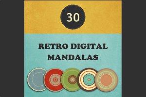 30 retro digital mandalas