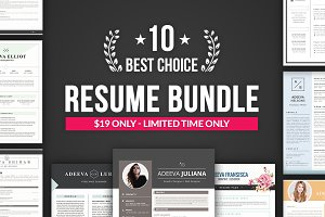 Best Choice Resume Template Bundle