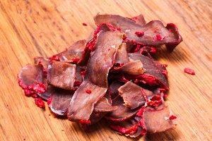 Basturma - pork dried meat