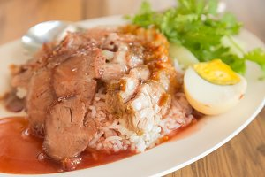 Red pork and Rice