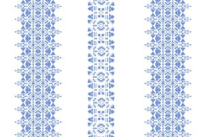 Seamless oriental pattern, blue