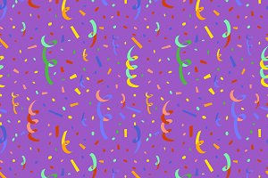 Colourful confetti, seamless pattern