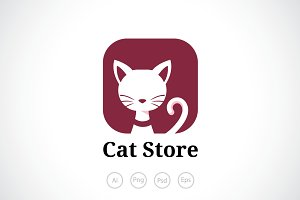 Elegant Cat Logo Template