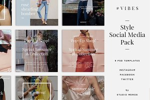 VIBES Social Media / Blog Templates
