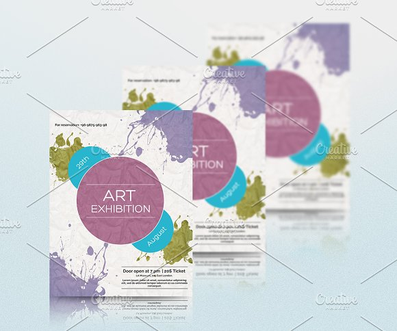 Art Exhibition Flyer or Leaflet in Flyer Templates - product preview 1