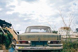 Vintage car bumper