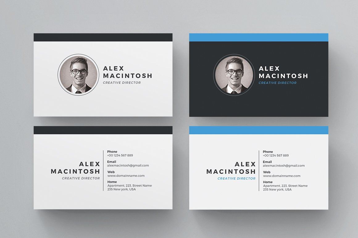 Business card business card templates creative market reheart Gallery