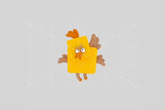 3d illustration. Chick. - Illustrations