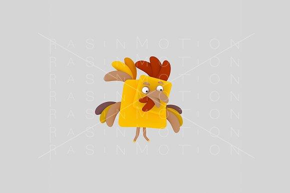 3d illustration. Rooster. - Illustrations