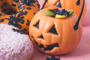 halloween candy and donuts
