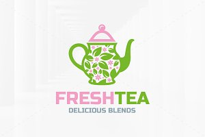 Fresh Tea Logo Template