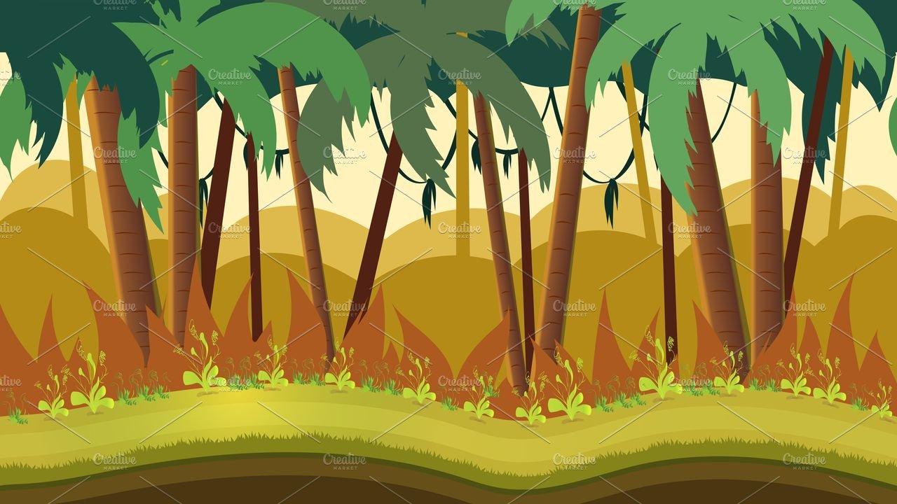 Jungle Background Illustrations Creative Market