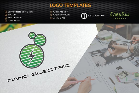 Nano Electric - Logo Template in Logo Templates