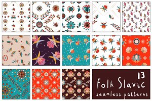 13 Folk Slavic Patterns