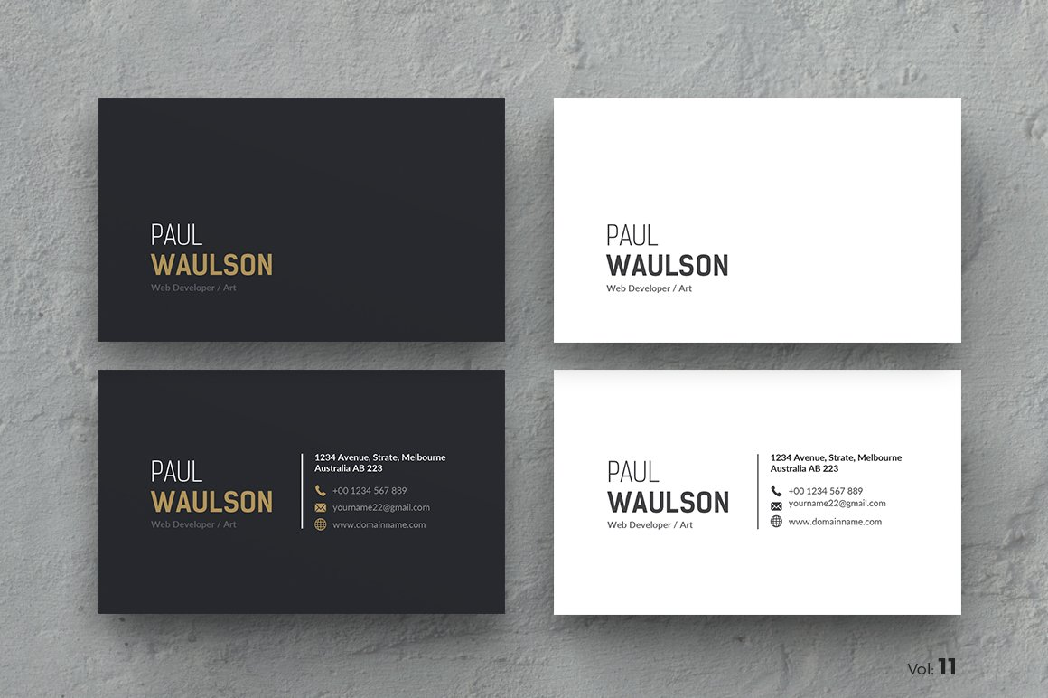 business card business card templates creative market - Photo Business Cards