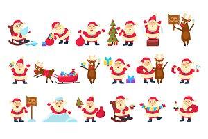 Santa and Deer Collection Christmas