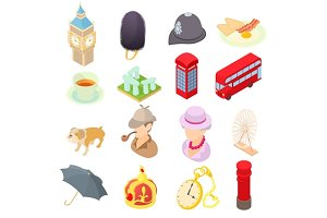 Great Britain icons set