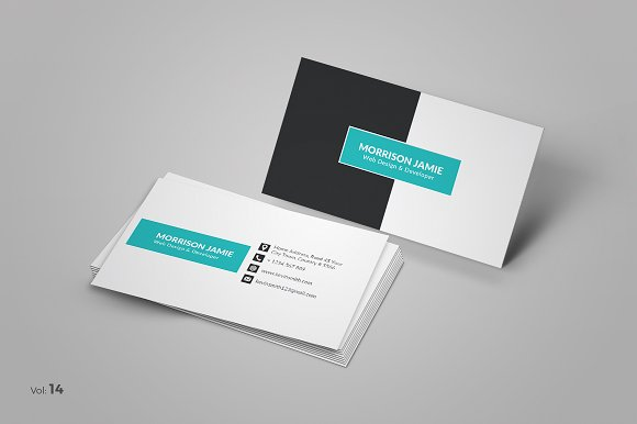 Elegant Business Card Business Card Templates Creative Market