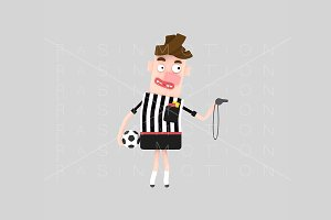 3d illustration. Referee.