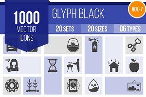 1000 Glyph Icons (V7)