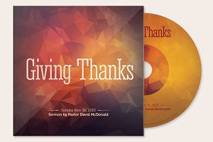 Giving Thanks CD Artwork Template