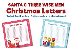 Santa & 3 Wise Men Chistmas Letters