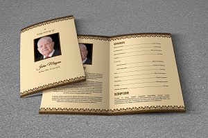 Funeral Program Template-T611