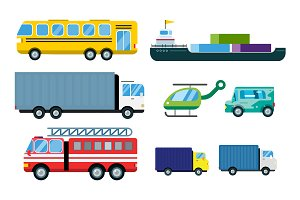 Transport delivery vector trucks