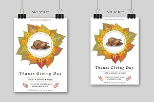 Thanksgiving Day Party Flyer-V410