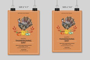 Thanksgiving Invitaion Flyer-V411