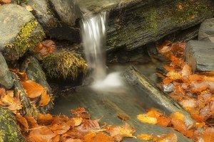 waterfall between sheets