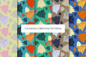 5 Seamless Christmas Patterns