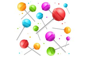 Lollipop Sugar Candy Background