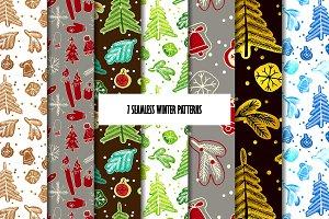 7 Seamless winter patterns