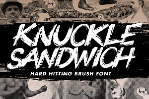Knuckle Sandwich - A brush font
