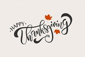 Thanksgiving Lettering Typography