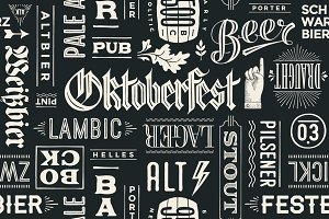 Seamless pattern for Oktoberfest