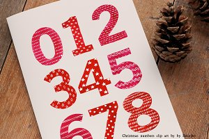 Christmas Watercolor Numbers